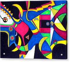 Quarter Moon Tango Acrylic Print
