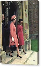 Queen Elizabeth And First Lady Pat Acrylic Print by Everett