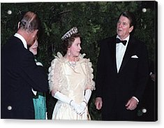 Queen Elizabeth II And Prince Philip Acrylic Print by Everett