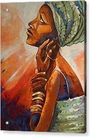 Queen Acrylic Print by Michael Echekoba