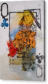 Queen Of Clubs 4-52  2nd Series  Acrylic Print