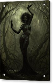 Queen Of Mud Acrylic Print by Caroline Jamhour