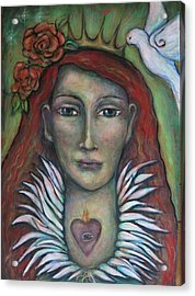 Queen Of My Own Heart Acrylic Print by Shoshanna Lightsmith