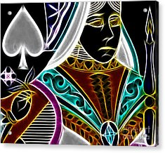 Queen Of Spades - V4 Acrylic Print by Wingsdomain Art and Photography