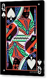 Queen Of Spades Acrylic Print by Wingsdomain Art and Photography