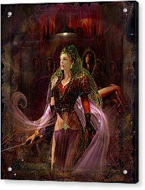 Acrylic Print featuring the painting Queen Of The Dead by Steve Roberts