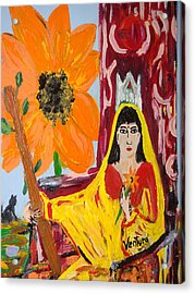 Queen Of Wands - Tarot Card Acrylic Print