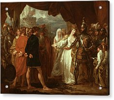 Queen Philippa Interceding For The Lives Of The Burghers Of Calais Acrylic Print