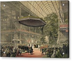 Queen Victoria Presides At The State Acrylic Print by Everett