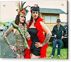 Acrylic Print featuring the photograph Queenie And Bettie by Pamela Patch