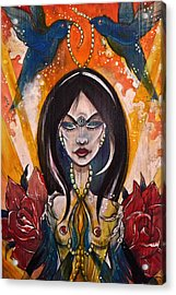 Acrylic Print featuring the painting Queenie by Sandro Ramani