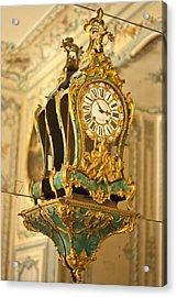 Queen's Clock Acrylic Print by Georgia Fowler