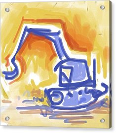 #quick #sketch Of An #excavator Acrylic Print