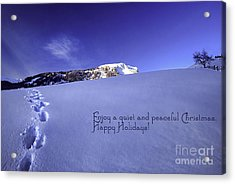 Quiet And Peaceful Christmas Acrylic Print by Sabine Jacobs