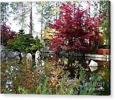 Quiet Autumn Pond Acrylic Print by Carol Groenen