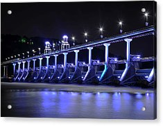 Acrylic Print featuring the photograph Quiet Night On The River by Renee Hardison
