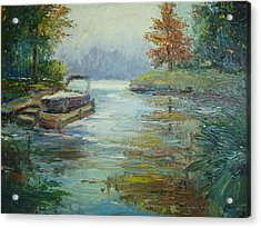 Quiet Place Acrylic Print by Holly LaDue Ulrich