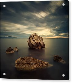 Quiet Rocks Acrylic Print by Xose Casal Photography