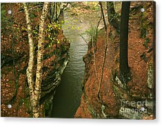 Quiet Rocky Gorge Acrylic Print by Joan McArthur
