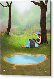 Quiet Time Acrylic Print by Sena Wilson