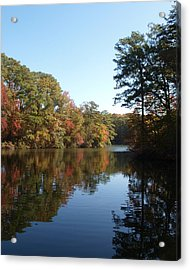 Quiet Water Acrylic Print by Larry Krussel