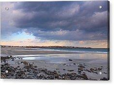 Quiet Winter Day At York Beach Acrylic Print by John Burk