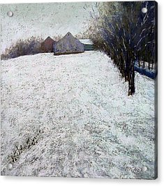 Quiet Winter Day In Bucks County Acrylic Print by Bob Richey