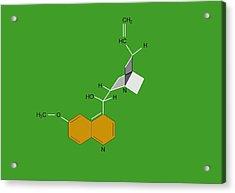 Quinine Malaria Drug Molecule Acrylic Print by Francis Leroy, Biocosmos