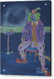 Quit Clowning Around Acrylic Print by Michael Mooney