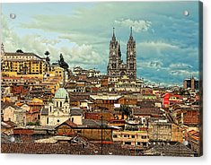 Quito Cathedral And Sorroundings Acrylic Print