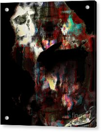 Rabbit With Human Head Acrylic Print by Diane Falk