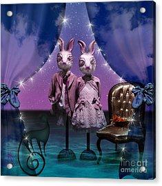 Rabbits In Love Acrylic Print
