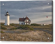 Race Point Lighthouse Acrylic Print by Nicholas Palmieri