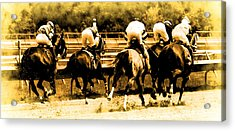 Acrylic Print featuring the photograph Race To The Finish Line by Alice Gipson