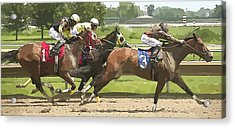 Acrylic Print featuring the photograph Racetrack Views by Alice Gipson