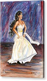 Acrylic Print featuring the painting Rachel by Clara Sue Beym