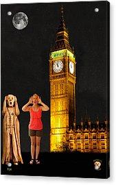 Rachel Hoovler Screams Big Ben Acrylic Print by Eric Kempson