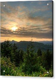 Radar Hill Sunset - Tofino Bc Canada Acrylic Print by Matt Dobson