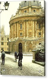 Radcliffe Camera In The Snow Acrylic Print