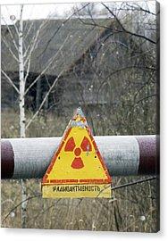 Radiation Warning Sign, Belarus Acrylic Print by Ria Novosti