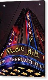 Radio City Music Hall Acrylic Print by Benjamin Matthijs