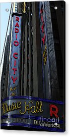 Radio City Music Hall Cirque Du Soleil Acrylic Print by Lee Dos Santos