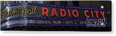 Radio City Music Hall Cirque Du Soleil Zarkana II Acrylic Print by Lee Dos Santos