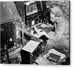 Radio Operator Operates His Scr-188 Acrylic Print