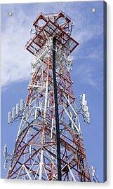 Radio Transmitter Mast Acrylic Print by Mark Williamson