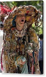 Rag Lady Begging Acrylic Print by Charles Warren