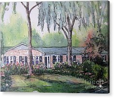 Acrylic Print featuring the pastel Ragan's Home 1 by Gretchen Allen