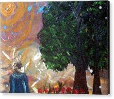 Rage In Heaven Acrylic Print by Violette Meier