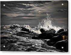 Raging Seas Acrylic Print by David Hahn