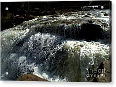 Raging Water Acrylic Print by Melissa Nickle